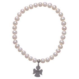 Bracciale elastico AMEN Arg 925 perle tonde 5 mm s2