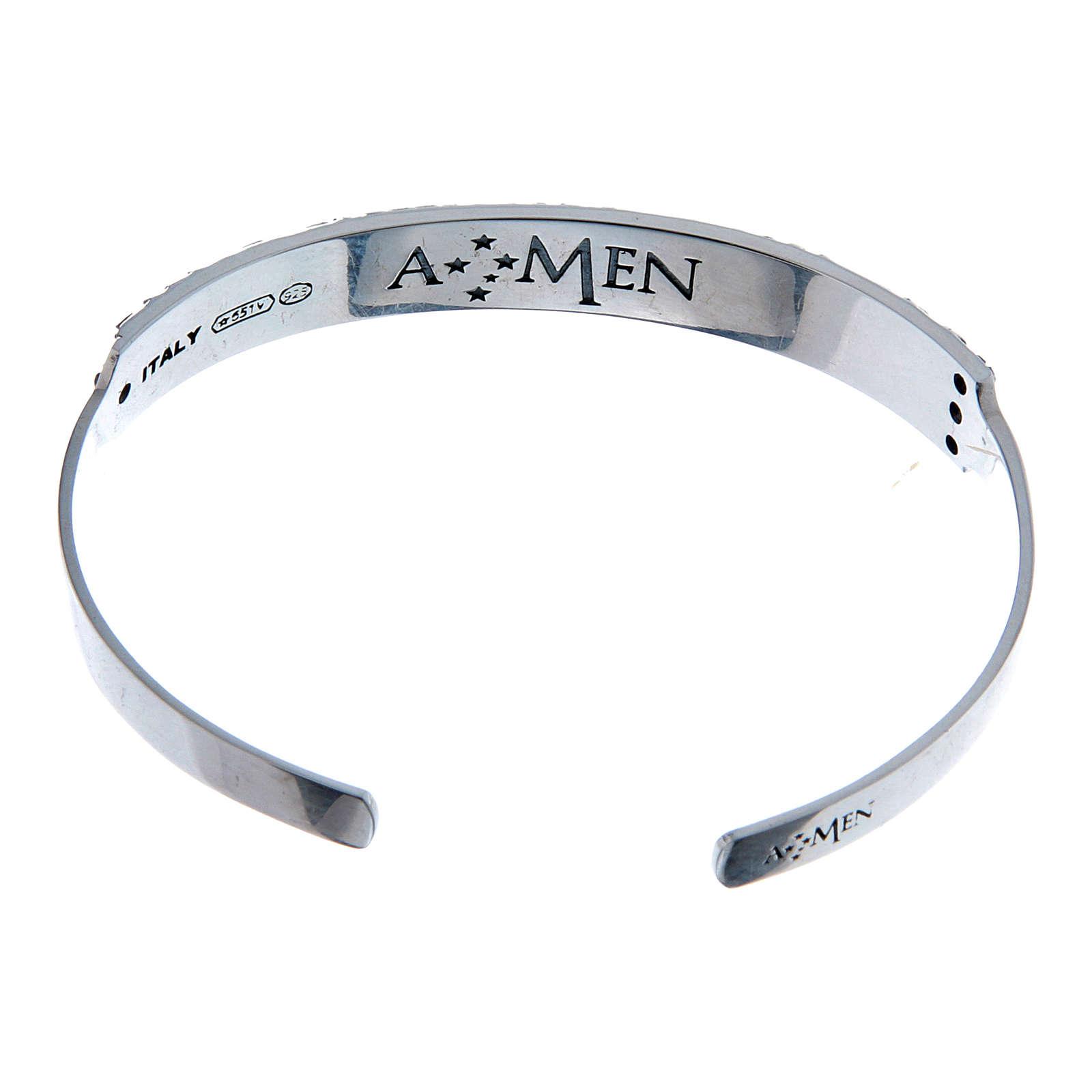 Bracelet AMEN esclave Notre Père ITA argent 925 4