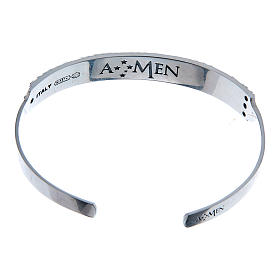Bracelet AMEN esclave Notre Père ITA argent 925 s2