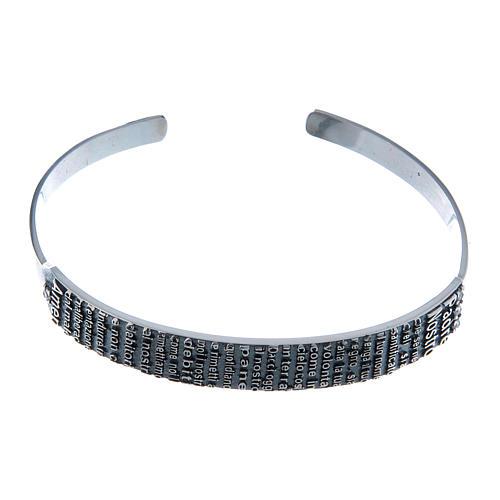 Bracelet AMEN esclave Notre Père ITA argent 925 1