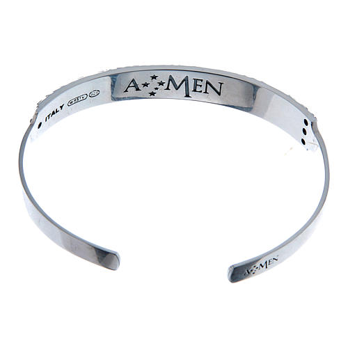Bracelet AMEN esclave Notre Père ITA argent 925 2