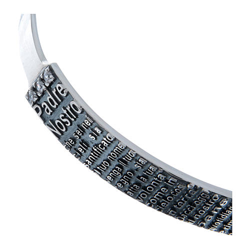 Bracelet AMEN esclave Notre Père ITA argent 925 3