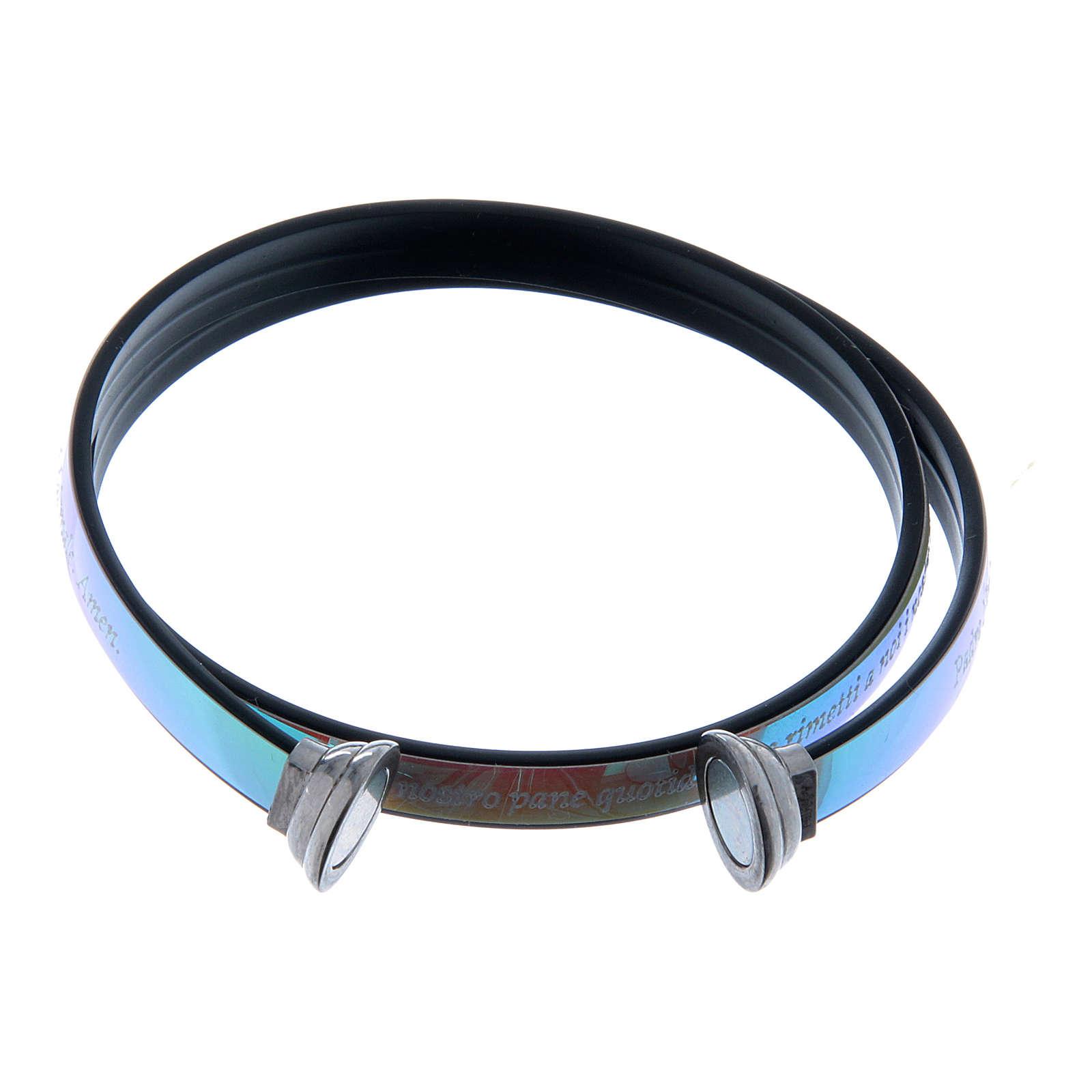 Bracciale AMEN termoplastica incisione Padre Nostro opale di fuoco 4