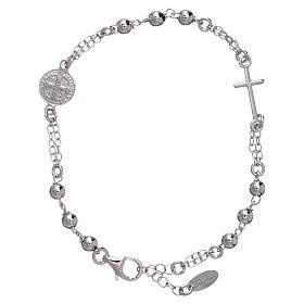 AMEN bracelets: AMEN bracelet 925 sterling silver with medalet spheres and cross