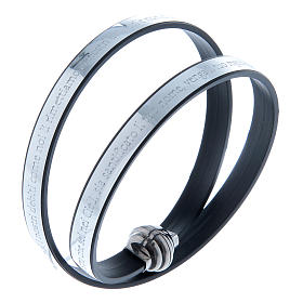 AMEN bracelets: AMEN bracelet in 925 sterling silver and silver thermoplastic Our Father incision