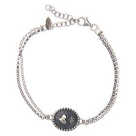 AMEN bracelets: Amen bracelet Sacred Heart in 925 sterling silver