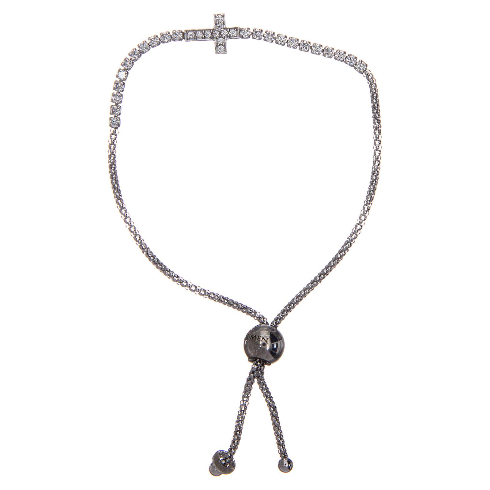 Bracciale Amen argento tennis croce zirconi 4
