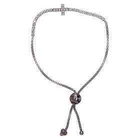 Bracciale Amen argento tennis croce zirconi s1