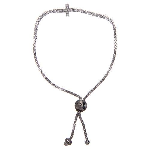 Bracciale Amen argento tennis croce zirconi 1