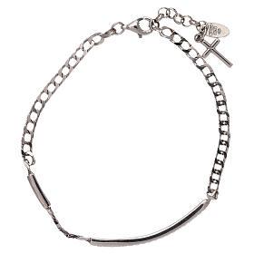 Bracelet argent 925 bruni zircons noirs AMEN s2