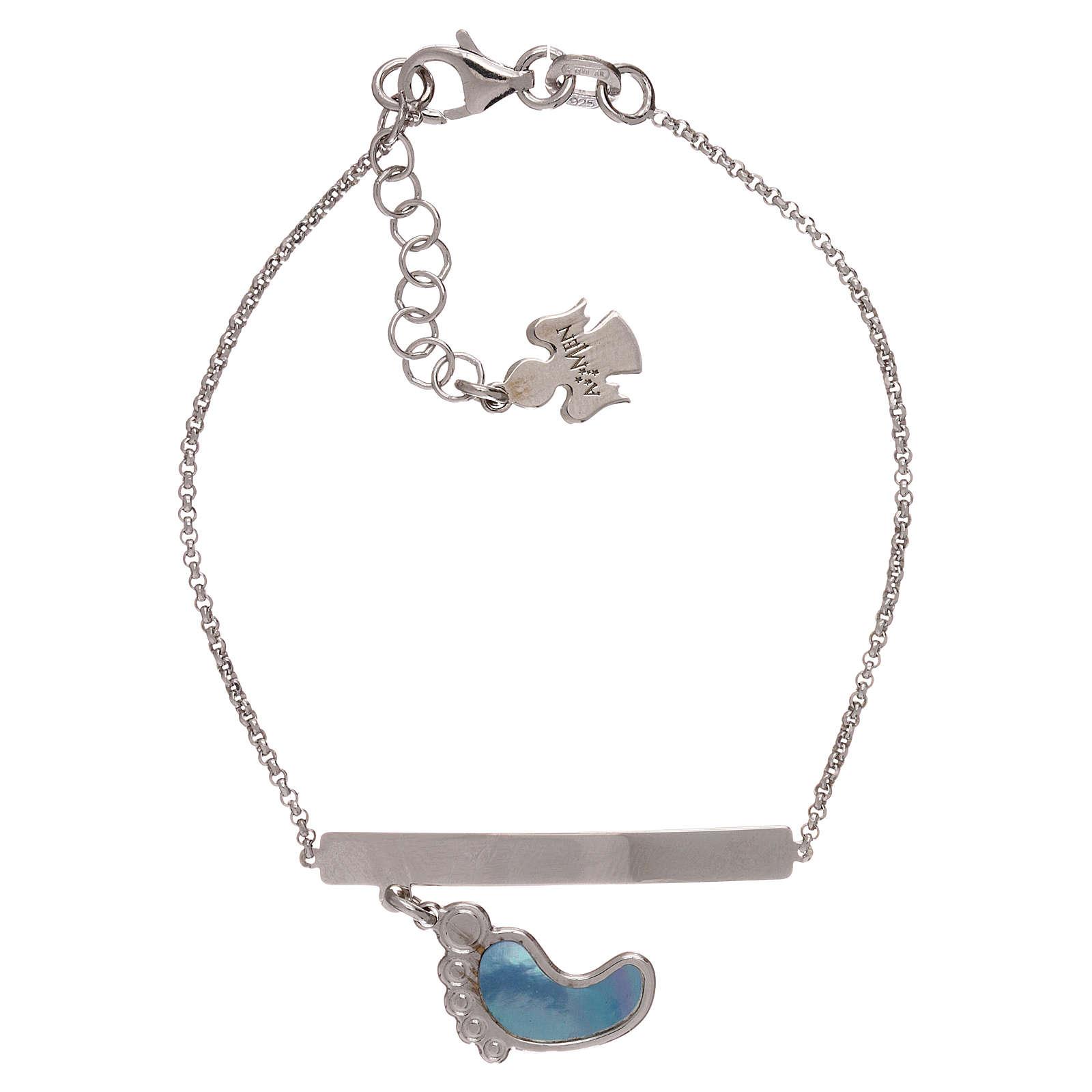 Bracelet AMEN argent 925 avec pied nacre bleue 4