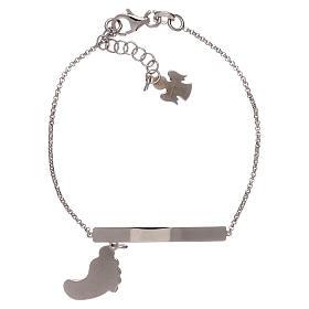 Bracelet AMEN argent 925 avec pied nacre bleue s2