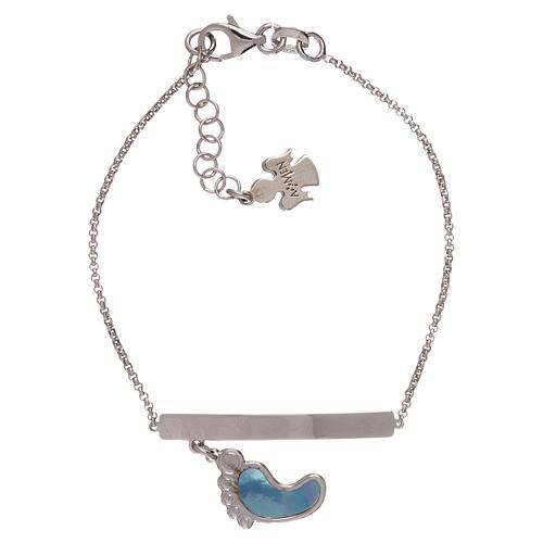 Bracelet AMEN argent 925 avec pied nacre bleue 1