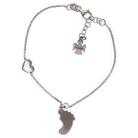 Bracelet AMEN pendentif pied nacre rose argent 925 s2