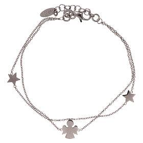 Bracelet AMEN argent 925 avec ange et étoiles s2