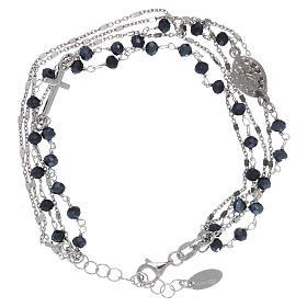 Bracelet argent 925 et cristaux gris et noirs AMEN s2