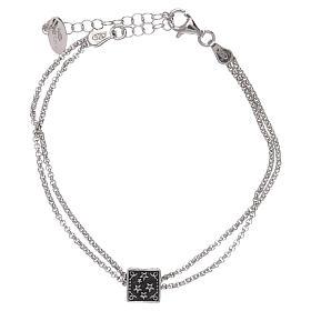 Pulseira cubo cruz coração âncora AMEN prata 925 s4