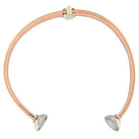 Bracelet AMEN ange zircons argent 925 lurex rosé s3