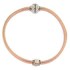 Bracelet AMEN ange zircons argent 925 lurex rosé s4