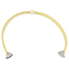 Pulsera AMEN lurex oro colgante plata 925 zircones s3