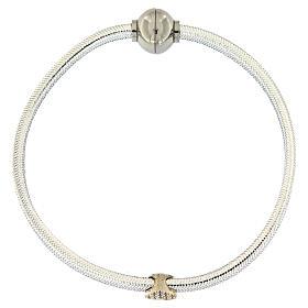 Braccialetto argento 925 lurex argentato AMEN cuore s4