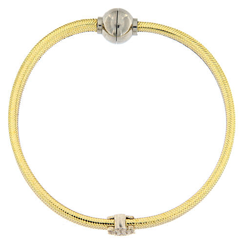 Pulsera lurex oro ángel plata 925 AMEN 1
