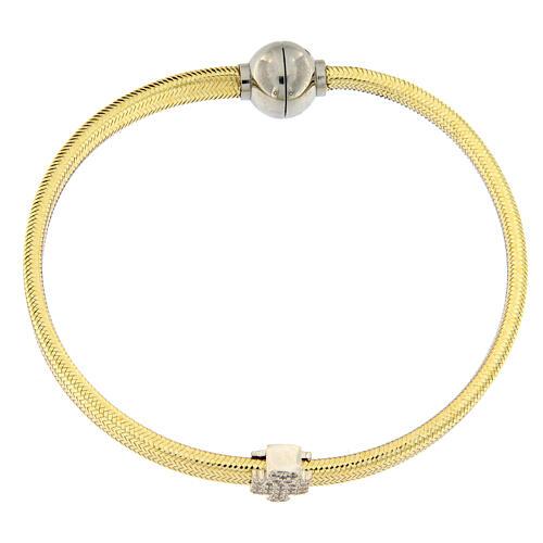 Pulsera lurex oro ángel plata 925 AMEN 4