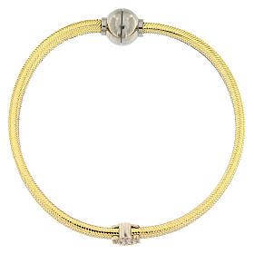 Bracelet lurex doré ange argent 925 AMEN s1