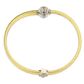Bracelet lurex doré ange argent 925 AMEN s4