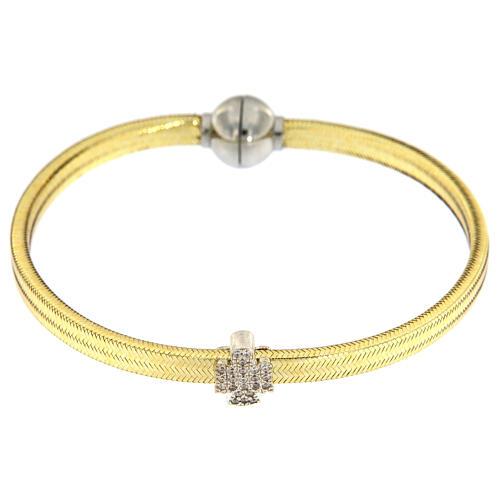 Bracelet lurex doré ange argent 925 AMEN 2