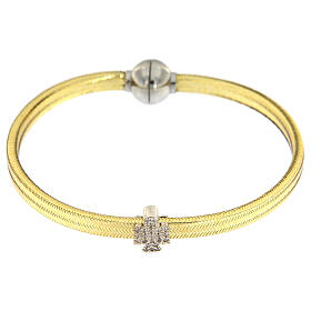 Bracciale lurex oro angelo argento 925 AMEN s2