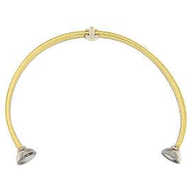 Bracciale lurex oro angelo argento 925 AMEN s3