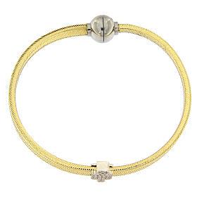 Bracciale lurex oro angelo argento 925 AMEN s4
