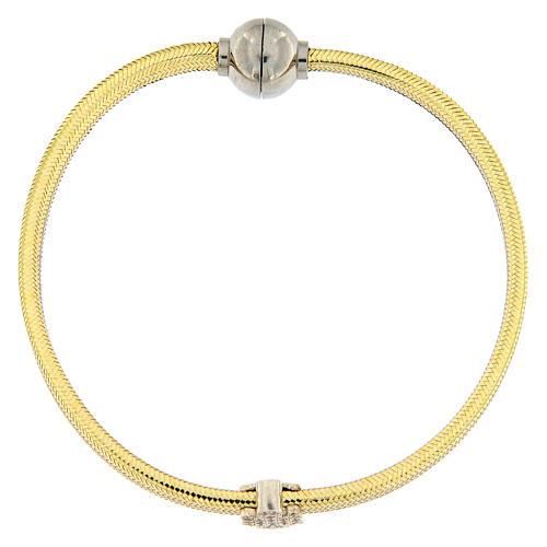 Bracciale lurex oro angelo argento 925 AMEN 1