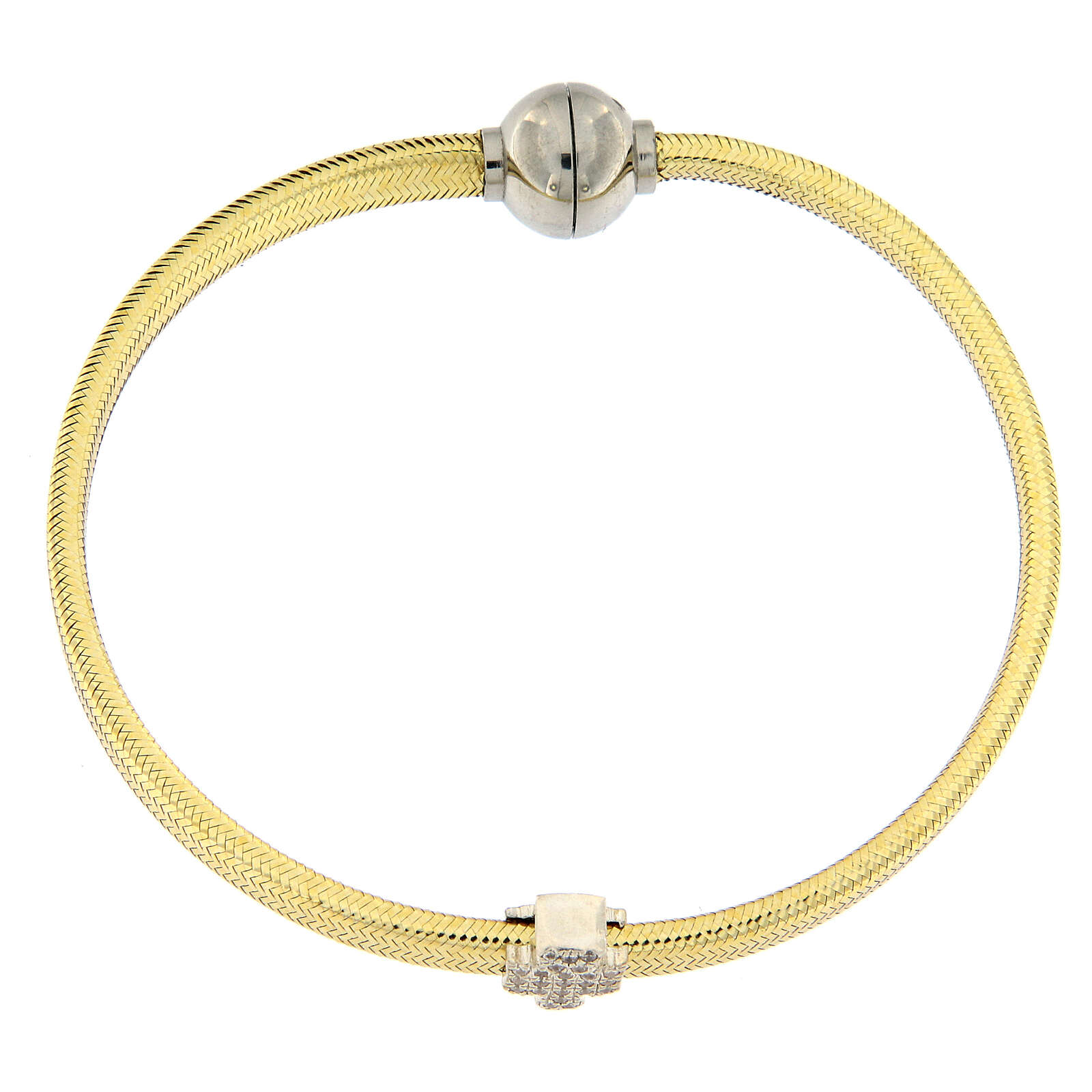 AMEN Bracelet gold plated lurex 925 silver angel 4