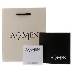 Bracelet AMEN ange lurex argent 925 fermoir aimanté s5