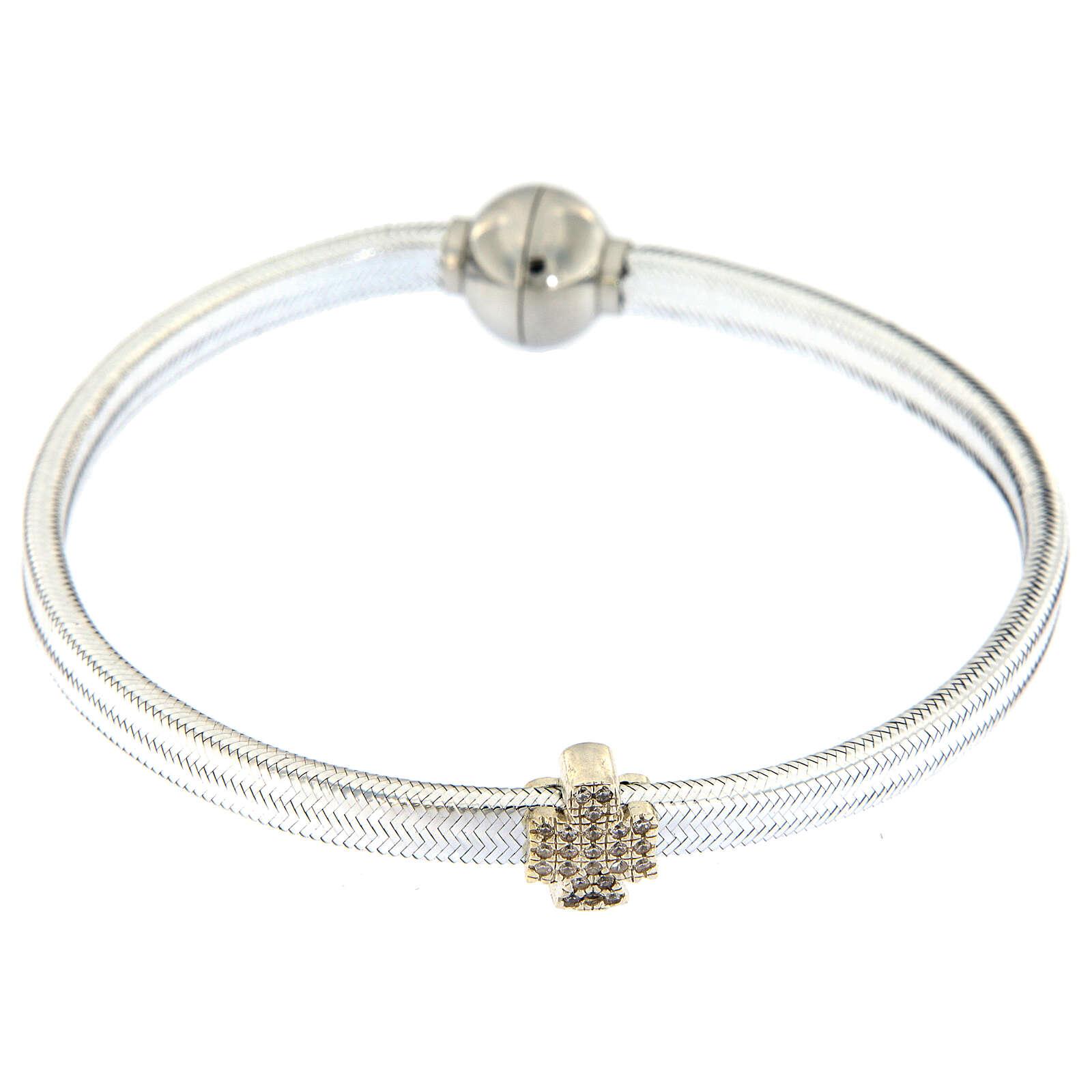 Bracciale AMEN angelo lurex argento 925 chiusura magnetica 4