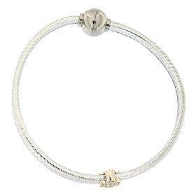Bracciale AMEN angelo lurex argento 925 chiusura magnetica s1
