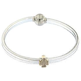 Bracciale AMEN angelo lurex argento 925 chiusura magnetica s2