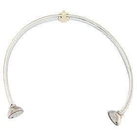 Bracciale AMEN angelo lurex argento 925 chiusura magnetica s3