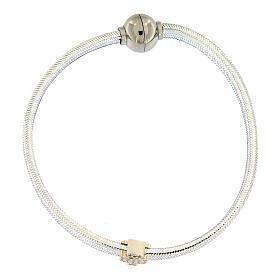 Bracciale AMEN angelo lurex argento 925 chiusura magnetica s4