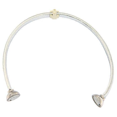 Bracciale AMEN angelo lurex argento 925 chiusura magnetica 3