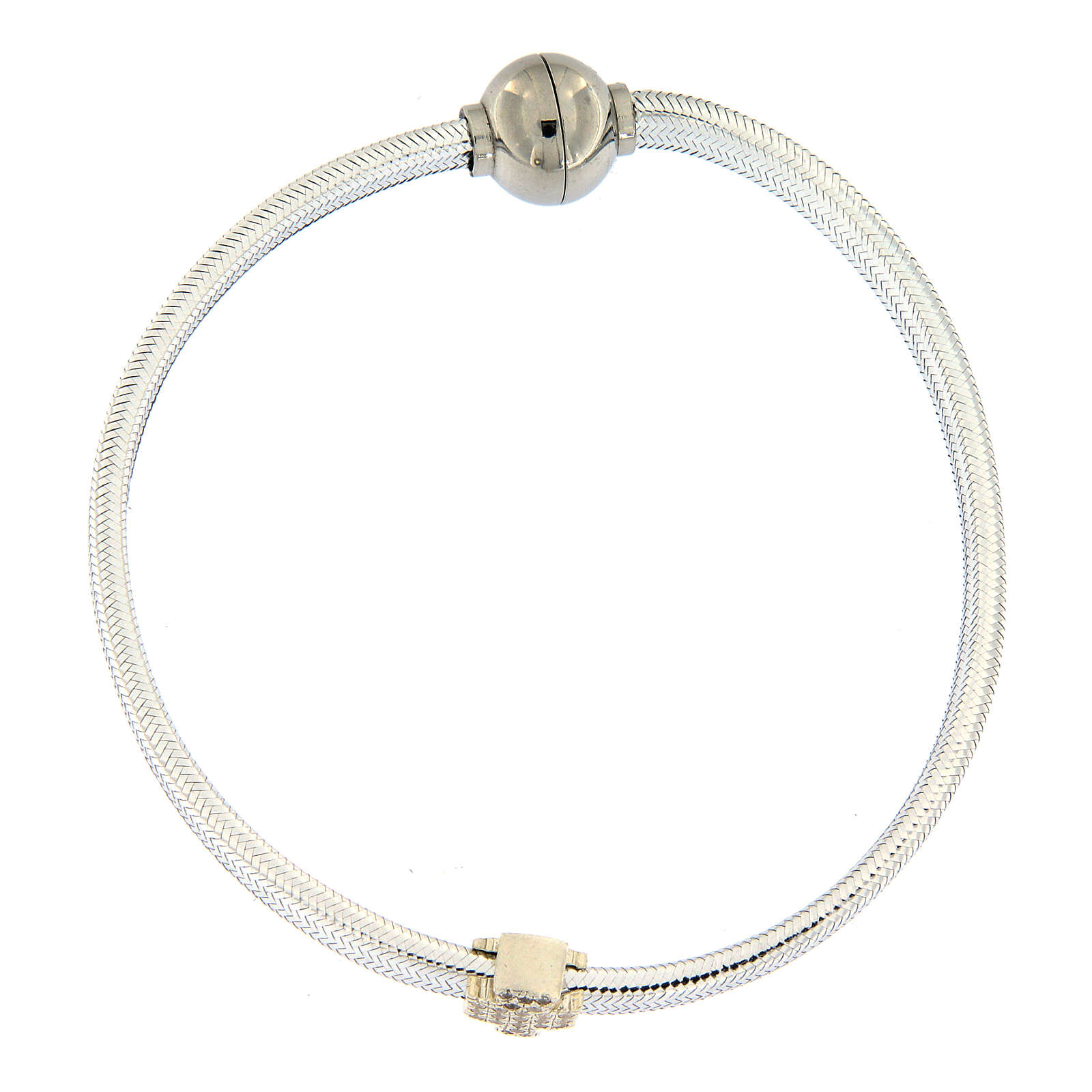 AMEN Bracelet angel lurex and 925 silver magnetic lock 4