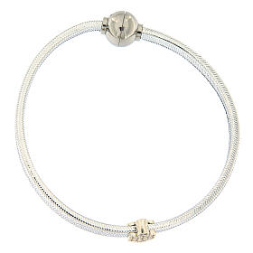 AMEN Bracelet angel lurex and 925 silver magnetic lock s1