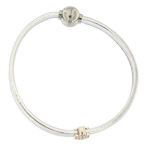 AMEN Bracelet angel lurex and 925 silver magnetic lock 1