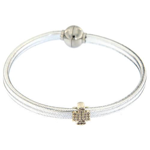 AMEN Bracelet angel lurex and 925 silver magnetic lock 2