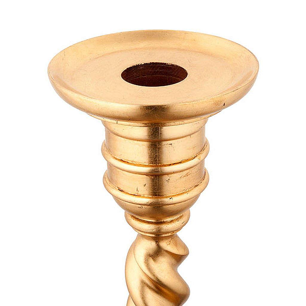 Base portacirio hoja de oro 4