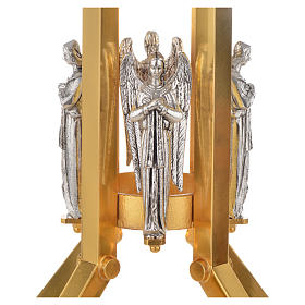 Paschal candle stand with angel decoration s2