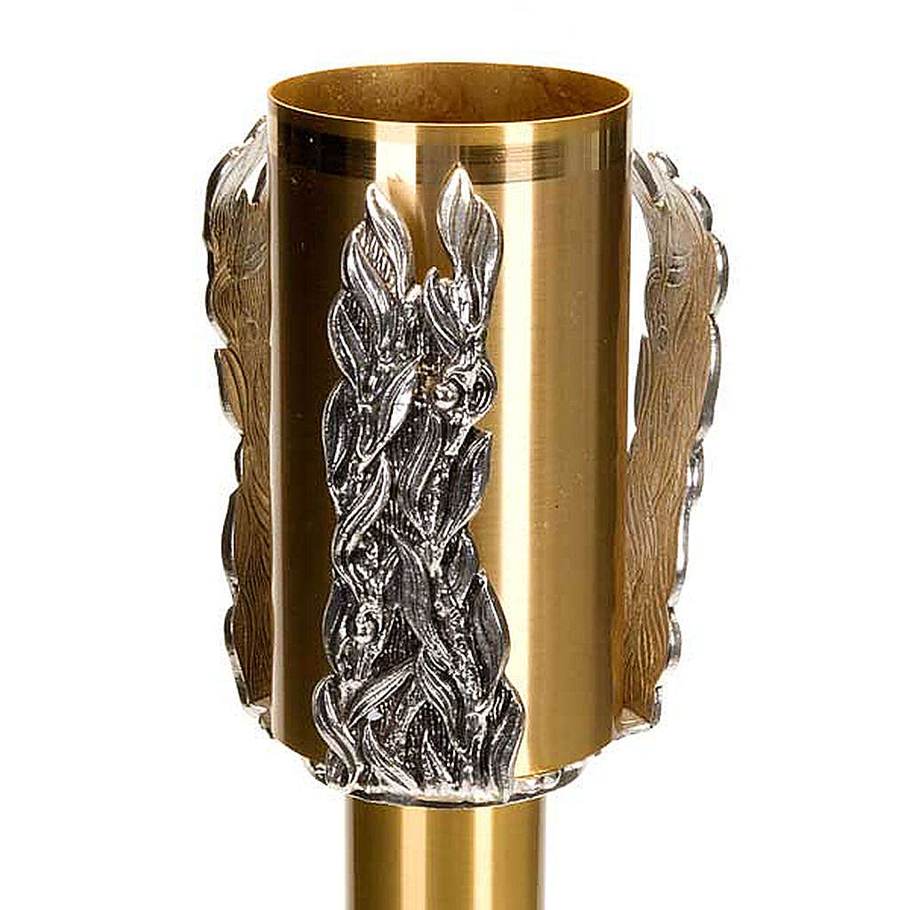 Paschal candle stand with leaves decoration 4