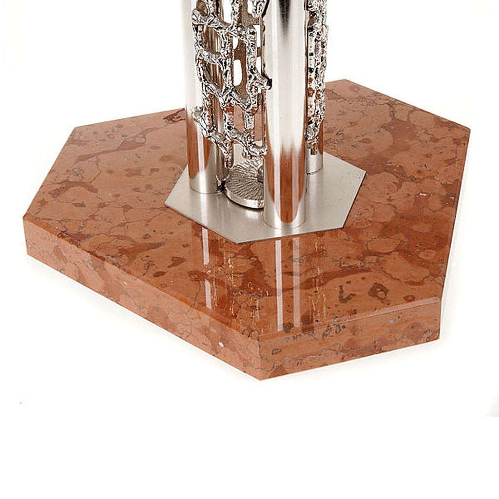 Portacirio moderno con base de marmol 4